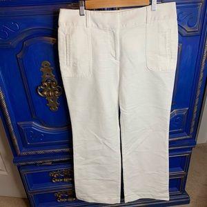 Ann Taylor LOFT Size 8 Trouser Career White Pants